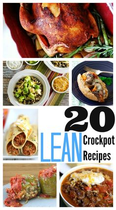 20 Lean Crockpot Recipes ~ Easy, healthy slow cooker recipes! The perfect way to eat nutritious meals when you're short on time! ~ from Saving Said Simply
