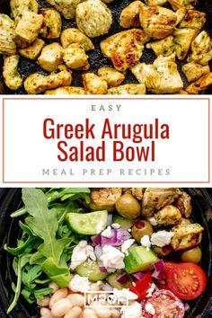 Greek Arugula Power Salad - Meal Prep on Fleek™