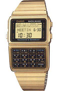 casio data bank gold watch