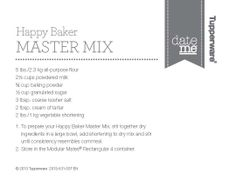 Master Mix www.my2.tupperware.com/mlhaney