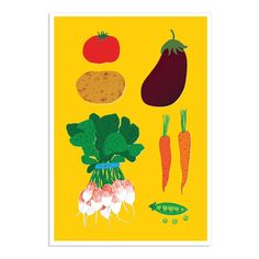 Alice Oehr vegetable cuisine print