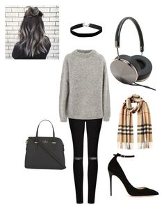 """""""Fall 2016"""" by inthespockears on Polyvore featuring AllSaints, Acne Studios, Frends, Jimmy Choo, Burberry, Kate Spade and Miss Selfridge"""