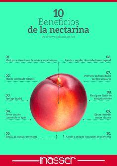 Beneficios de la nectarina by www.clinicanasser.es