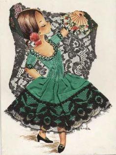 Gallarda  - Embroidered Postcards
