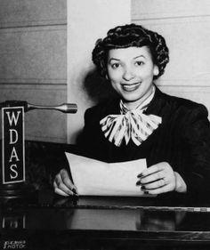 Bernice Thompson :The first black female disc jockey in Philadelphia, Pennsylvania. WDAS in 1952
