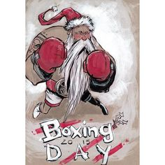 Boxing Day Prep Every year on Christmas Day Nicholas prepares for Dec 26th in the most obvious way possible.  #boxingday2015 #boxingday #stnicholas #boxing #art #christmas2015 #christmas