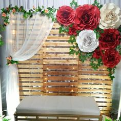 25 Most Interesting DIY Event Decor Ideas : Make Your Events More Attractive. - Glam Girl Beauty 25 Most Interesting DIY Event Decor Ideas : Make Your Events More Attractive. These 25 DIY Event stylis Paper Flower Backdrop, Paper Flowers, Pink Flowers, Floral Backdrop, Wood Flowers, Diy Wedding, Rustic Wedding, Wedding Paper, Floral Wedding