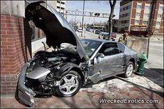 Ferrari 456 crashed in Cedar Rapids, Michigan