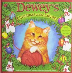 Dewey's Christmas at the Library by Vicki Myron http://www.amazon.com/dp/B0085SHXEA/ref=cm_sw_r_pi_dp_95fywb1W8Z4TB