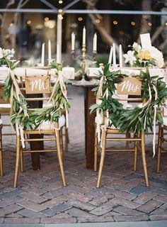 Beautiful chair decor. Image by Tec Petaja. See more in the Winter 2014 issue of Weddings Unveiled: www.weddingsunveiledmagazine.com.