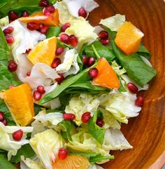 Pomegranate and Orange Spinach Salad | Simple Dish | Quick, Easy, & Healthy Recipes for Dinner