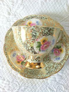 Fine China Teacup & Saucer