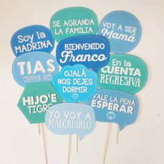 props photoboot cartelitos kit baby shower personalizado
