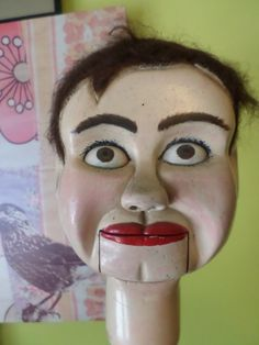 RARE Hand Carved 1940's Wood Ventriloquist Dummy Folk Art Outside Art Carnival | eBay  http://puppet-master.com - THE VENTRILOQUIST ASSISTANT