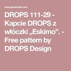 """DROPS 111-29 - Kapcie DROPS z włóczki """"Eskimo"""". - Free pattern by DROPS Design"""