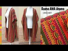 "Ruana AWA Amano ""estampada"" tejida a crochet / Tejiendo Perú - YouTube"