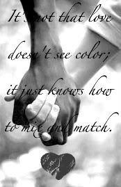 So true, no matter what color or race we all breath the same air. and our blood is still red, we all have the same creator!
