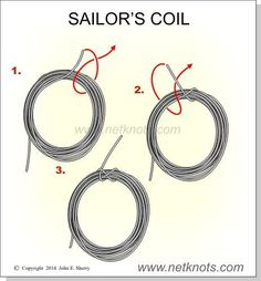 Sailor's Coil - Animated, Illustrated and described Paracord Knots, Rope Knots, Survival Knots, Survival Skills, Scout Knots, Sailing Knots, Knots Guide, Rope Crafts, Paracord Projects