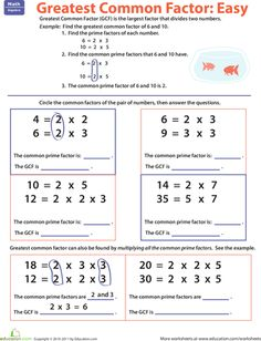 math worksheet : greatest common factor worksheet  customizable and printable  : Greatest Common Multiple Worksheets