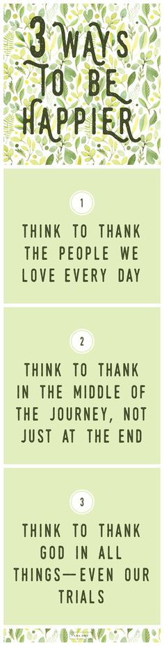Think to Thank. #lds