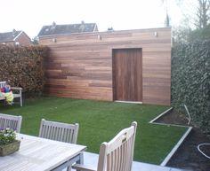 In cederhout afgewerkt tuinhuis 1 Pool Ideas, Deck, Garden, Outdoor Decor, Home Decor, Garten, Decoration Home, Room Decor, Gardens