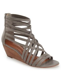 strappy leather wedge sandals