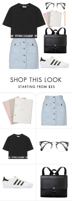 """Wonwoo X Study Date"" by jleeoutfitters ❤ liked on Polyvore featuring StudioSarah, MINKPINK, Opening Ceremony, Miu Miu, adidas Originals and Monki"
