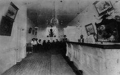 Interior of the Long Branch Saloon, Dodge City, Kansas Circa 1880