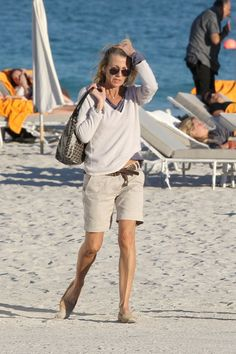 Claire Chazal Photos: Claire Chazal and Arnaud in South Beach