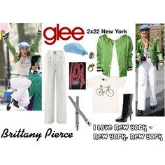 """Brittany Pierce (Glee) : I Love New York / New York, New York"" by aure26 on Polyvore"
