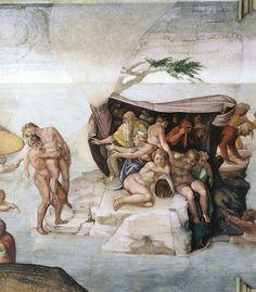 ❤ - MICHELANGELO BUONARROTI - (1475 - 1564) - Sistine Chapel - The Flood (detail).