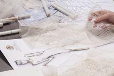 In the fashion studio - the fashion design process; fashion designers at work // Roberto Cavalli for Harrods