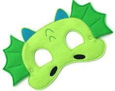 Enfants Dragon masque, Costume de Dragon, dinosaure, masque, masque pour enfant, masque Animal, Costume d'Halloween en feutrine, faire semblant Play, Dress Up, cotillons