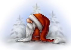 Little Santa in the snow | by Caroline Nyman