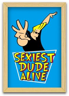 Johnny Bravo (framed poster)