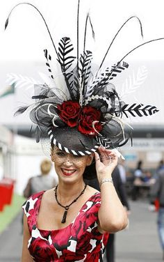 Ascot. Wow. It's certainly cool and maybe with a few more hat pins totally comfortable!