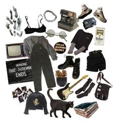 """""""grunge 90s"""" by peachysara ❤ liked on Polyvore featuring OTTO, Ardene, Polaroid, Mimi Holliday by Damaris, Nasty Gal, Polder, Lux-Art Silks and vintage #grungeoutfits #FashionTrendsGrunge"""