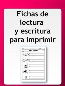FICHAS DE LECTURA Y ESCRITURA
