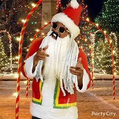 We be jammin' all season long as a Rasta Santa! Bring some Caribbean style to SantaCon with dreadlocks, shades and a Santa suit with strips of duck tape.