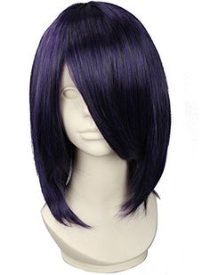 Diforbeauty Unisex Short Straight with Oblique Bangs Synt...