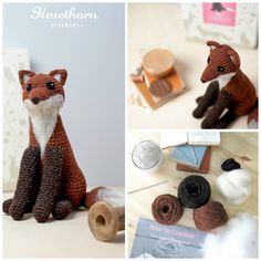 Learn how to crochet this crafty Fox using British aran wool. Follow the 'how to crochet' guide and detailed pattern and use the included hook to bring your Fox to life. Add unique needle felted features to really make it your own using the British felting wool and felting needle. Photo Credit: Holly Booth £32.95