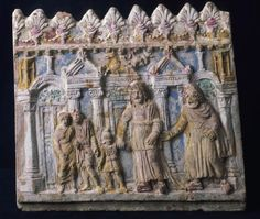 Terracotta relief with thetrical scene, 1st century A.D. Museo Nazionale Romano, Palazzo Massimo alle terme. Rome