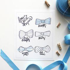 Bow Tie Shapes | Printable Art Print | Kori Clark Illustration