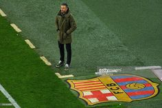 Head coach Luis Enrique of FC Barcelona looks on during the Copa del Rey round of 32 second leg match between FC Barcelona and Hercules at Camp Nou on December 21, 2016 in Barcelona, Spain.