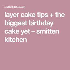 layer cake tips + the biggest birthday cake yet – smitten kitchen