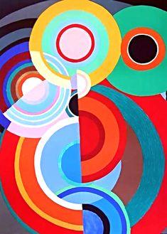 Sonia Delaunay (November 1885 – December Inspirational colourful art for PR with Perkes Sonia Delaunay, Robert Delaunay, Modern Art, Contemporary Art, Abstract Geometric Art, Art Moderne, Art Graphique, Art Plastique, Op Art