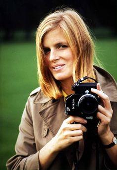 Linda McCartney with her Nikon