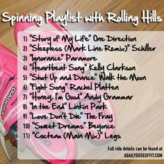 Spinning Playlist with Rolling Hills / A Daily Dose of Fit