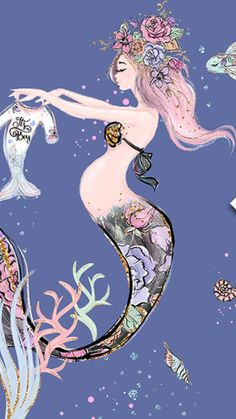 Pregnant, happy and ready Mermaid. - Pregnant, happy and ready Mermaid. Real Mermaids, Mermaids And Mermen, Mermaid Wallpapers, Cute Wallpapers, Mythical Creatures, Fantasy Creatures, Merfolk, Mermaid Art, The Little Mermaid