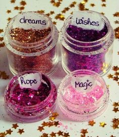 Glitter dreams, wishes, hope, and magic